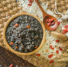 黑芝麻粳米粥
